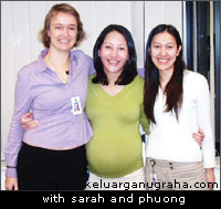 with sarah and phuong